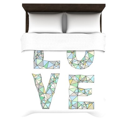 Four Letter Word Woven Comforter Duvet Cover Size: Full/Queen