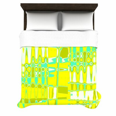 Changing Gears in Sunshine by Vikki Salmela Woven Duvet Cover