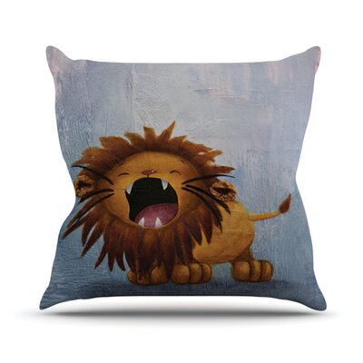 Dandy Lion Throw Pillow Size: 16 H x 16 W