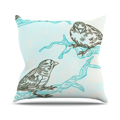 Birds in Trees Throw Pillow Size: 26 H x 26 W