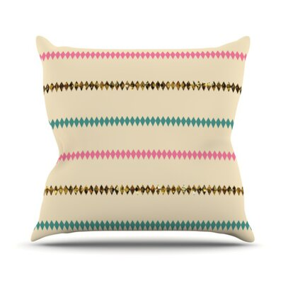 Diamonds Throw Pillow Size: 18 H x 18 W