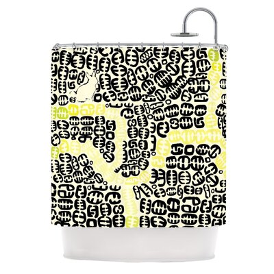 Oliver Shower Curtain Color: Yellow
