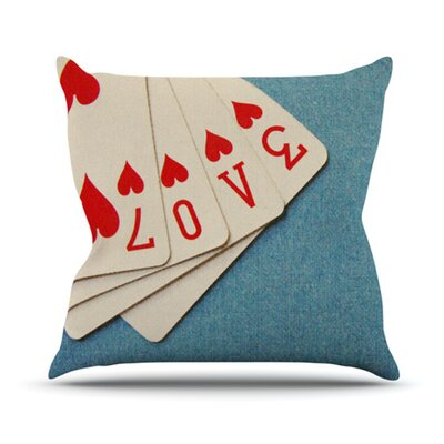 Love Throw Pillow Size: 16 H x 16 W