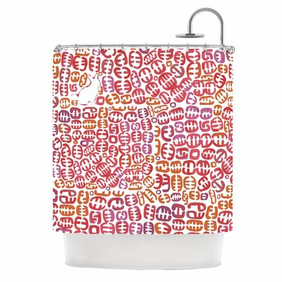 Oliver Shower Curtain Color: Orange