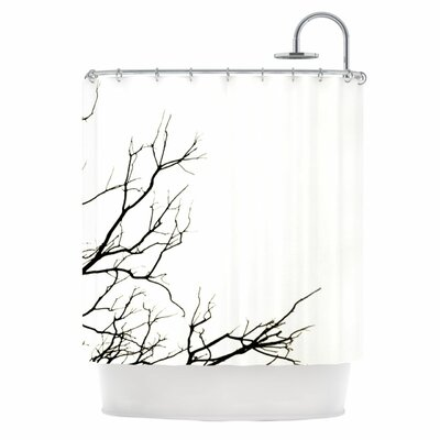 Winter Shower Curtain Color: White
