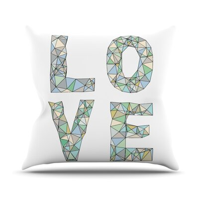 Four Letter Word Throw Pillow Size: 26 H x 26 W