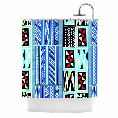 American Blanket Pattern Shower Curtain