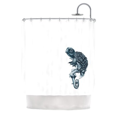 Turtle Tuba Shower Curtain