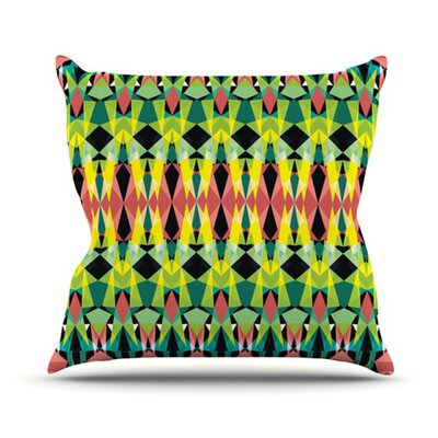Triangle Visions Throw Pillow Size: 16 H x 16 W, Color: Green/Yellow