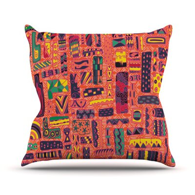 Squares Throw Pillow Size: 18