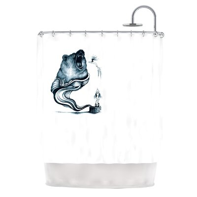 Hot Tub Hunter Shower Curtain
