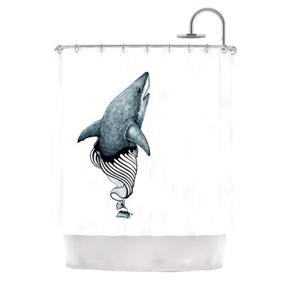 Shark Record Shower Curtain