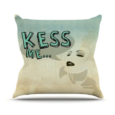 Kess Me Throw Pillow Size: 16