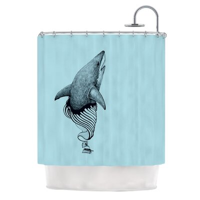 Shark Record II Shower Curtain