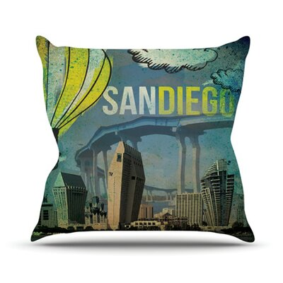 San Diego Throw Pillow Size: 16