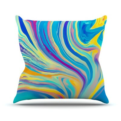 Rainbow Swirl Throw Pillow Size: 18 H x 18 W