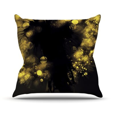Moonlight Dandelion Throw Pillow Size: 18 H x 18 W