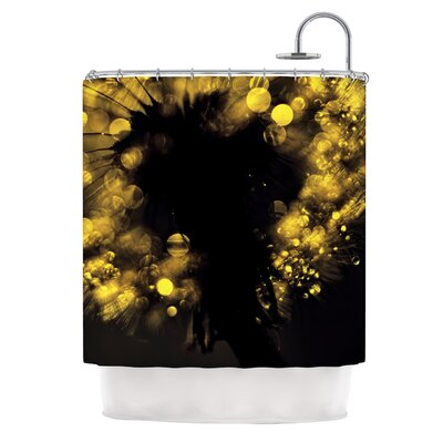 Moonlight Dandelion Shower Curtain