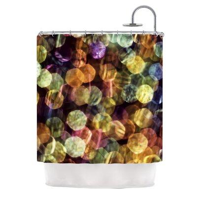 Warm Sparkle Shower Curtain