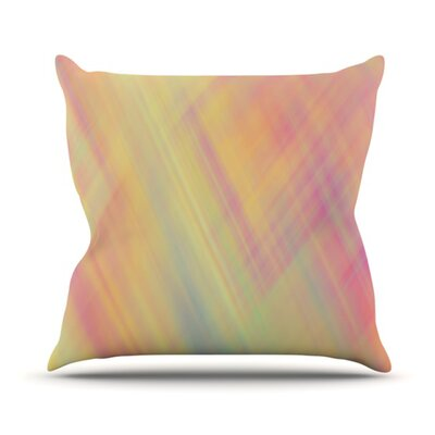 Pastel Abstract Throw Pillow Size: 16 H x 16 W