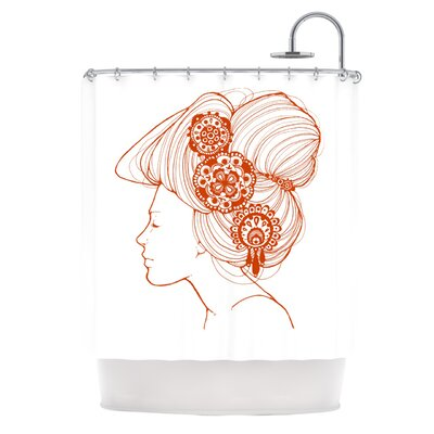 Organic Shower Curtain Color: White