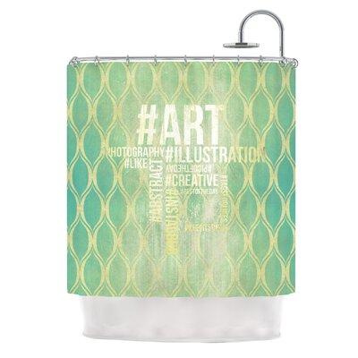 Hashtag Shower Curtain