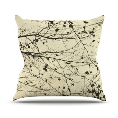 Boughs Neutral Throw Pillow Size: 16 H x 16 W