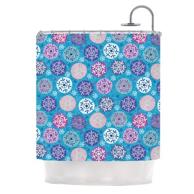 Floral Winter Shower Curtain