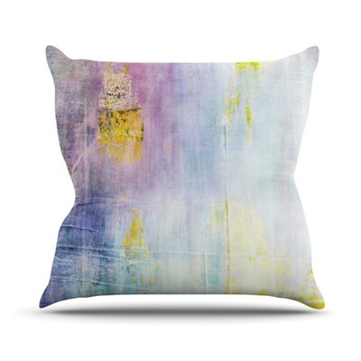 Color Grunge Throw Pillow Size: 16 H x 16 W