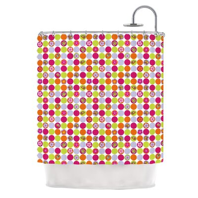 Happy Circles Shower Curtain
