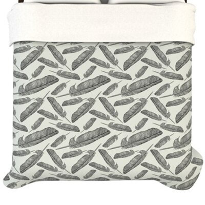 """Kess InHouse """"Feather Scene"""" Woven Comforter Duvet Cover - Size: Twin at Sears.com"""