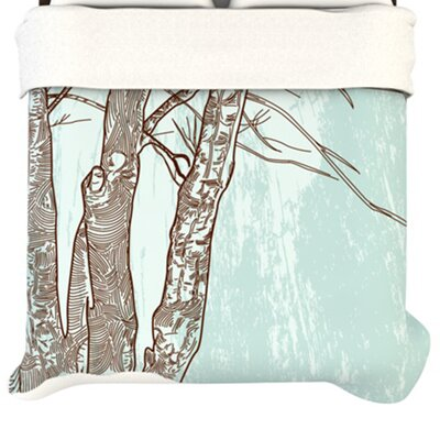Kess InHouse Winter Trees Duvet Cover - Size: Queen at Sears.com