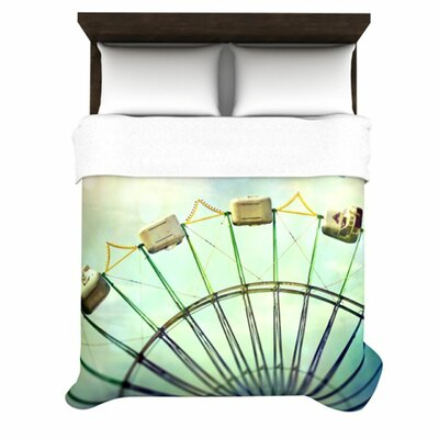 Every Summer Has a Story Woven Comforter Duvet Cover Size: King