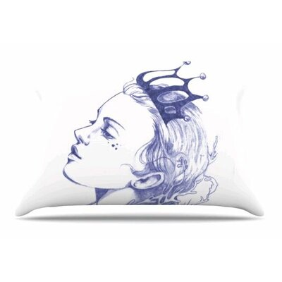 Queen of The Sea Pillowcase Size: Standard, Color: Purple