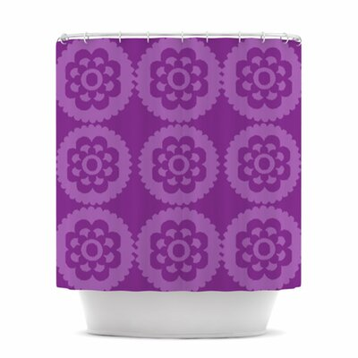 Moroccan Shower Curtain Color: Purple