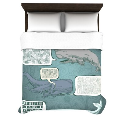 Whale Talk Woven Comforter Duvet Cover Size: Full/Queen