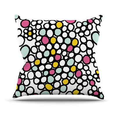 Pebbles Throw Pillow Size: 18 H x 18 W x 4.1 D, Color: Pink