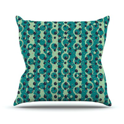 Bubbles Made of Paper Throw Pillow Size: 26 H x 26 W