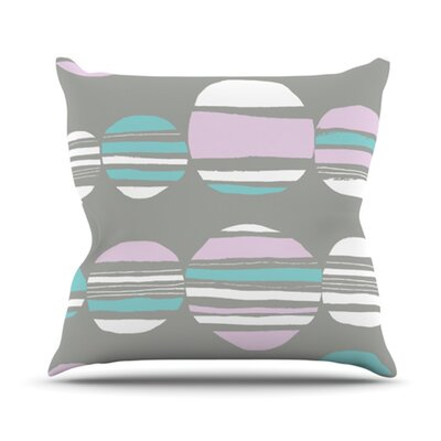 Retro Circles Throw Pillow Size: 16 H x 16 W x 3.7 D, Color: Pastel