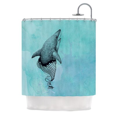 Shark Record III Shower Curtain