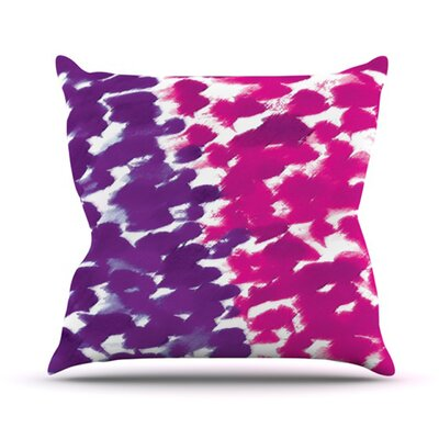 Fleeting Throw Pillow Size: 20 H x 20 W x 4.5 D, Color: Purple