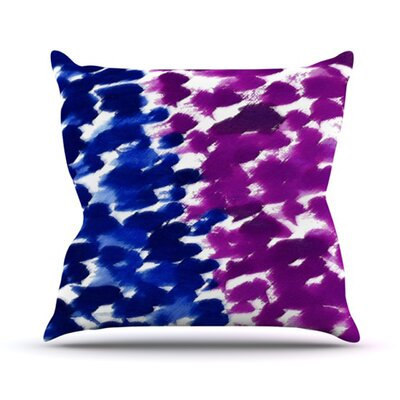 Fleeting Throw Pillow Size: 18 H x 18 W x 4.1 D, Color: Blue