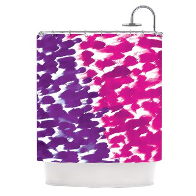 Fleeting Shower Curtain Color: Purple
