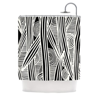 Graphique Shower Curtain Color: Black