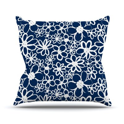 Daisy Lane Throw Pillow Size: 18 H x 18 W x 4.1 D