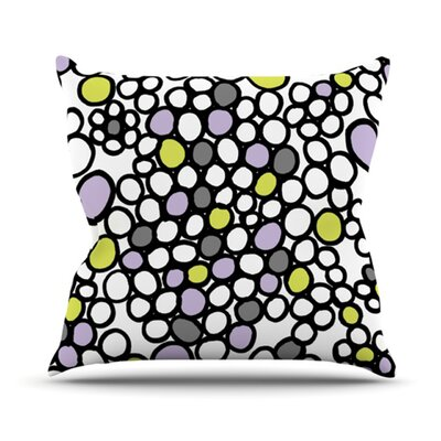 Pebbles Throw Pillow Size: 16 H x 16 W x 3.7 D, Color: Lilac