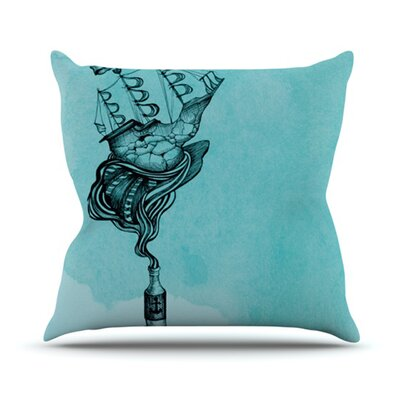 All Aboard Throw Pillow Size: 18 H x 18 W x 4.1 D, Color: Teal