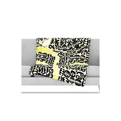 """Kess InHouse Oliver Fleece Throw Blanket - Size: 80"""" L x 60"""" W, Color: Yellow at Sears.com"""