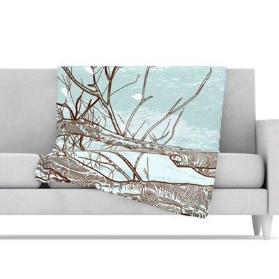"Kess InHouse Winter Trees Fleece Throw Blanket - Size: 80"" L x 60"" W at Sears.com"