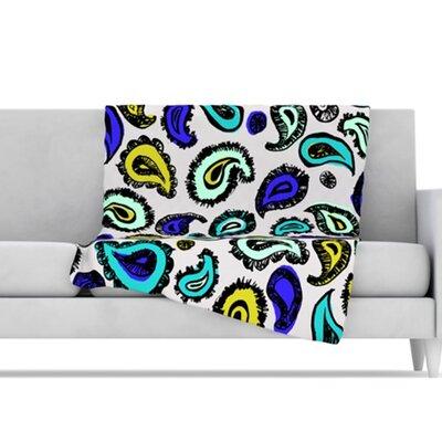 "Kess InHouse Microfiber Fleece Throw Blanket - Color: Blue Fun, Size: 80"" L x 60"" W at Sears.com"